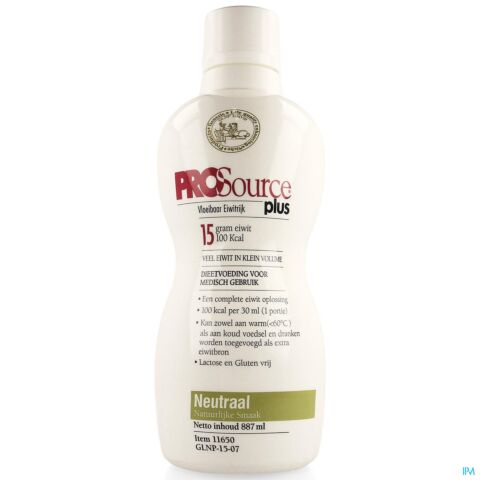 PROSOURCE PLUS NEUTRE 15G PROTEIN/30ML FL 887ML