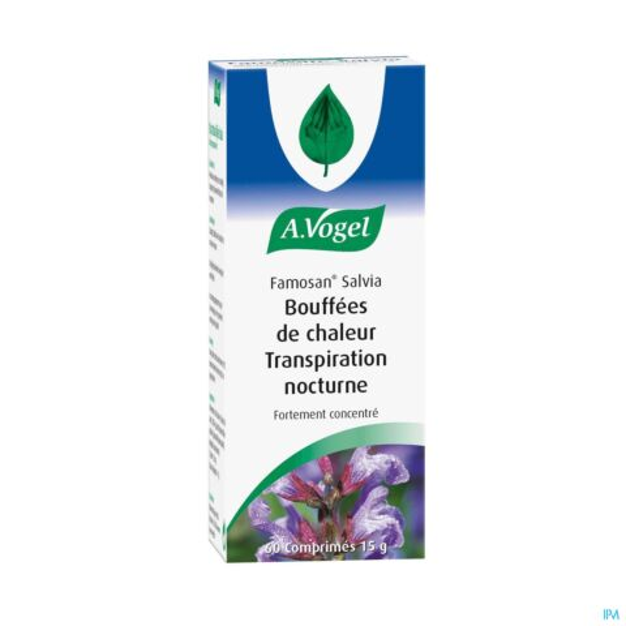 A.Vogel Famosan Salvia Bouffées de Chaleur Transpiration Nocturne 60 Comprimés