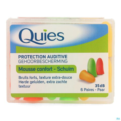 QUIES PROTECTION AUDITIVE MOUSSE CONFORT 6 PAIRES