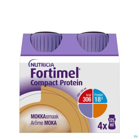Fortimel Compact Protein Moka Bouteille 4x125ml
