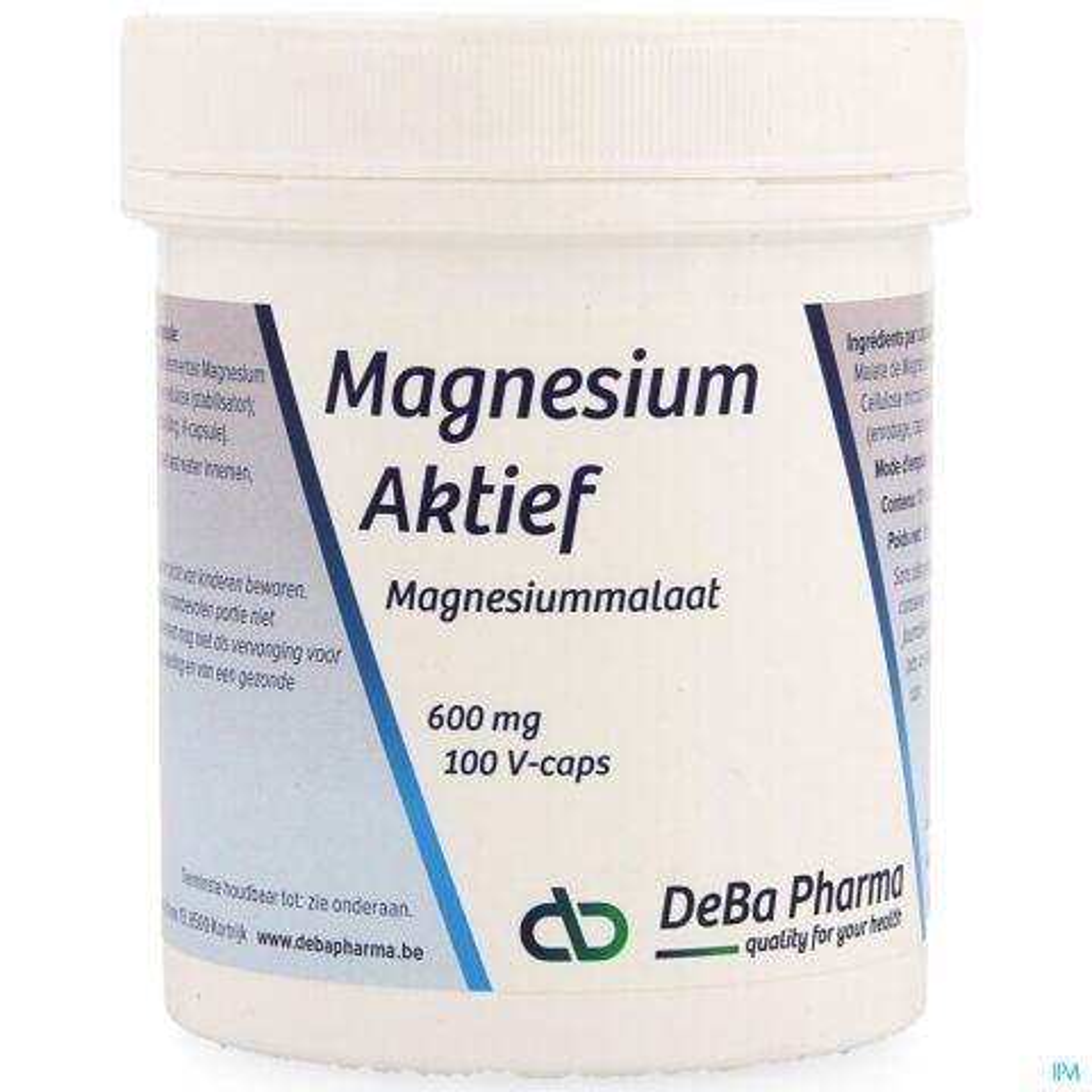 Deba Pharma Magnésium Actif 600mg 100 V-Capsules