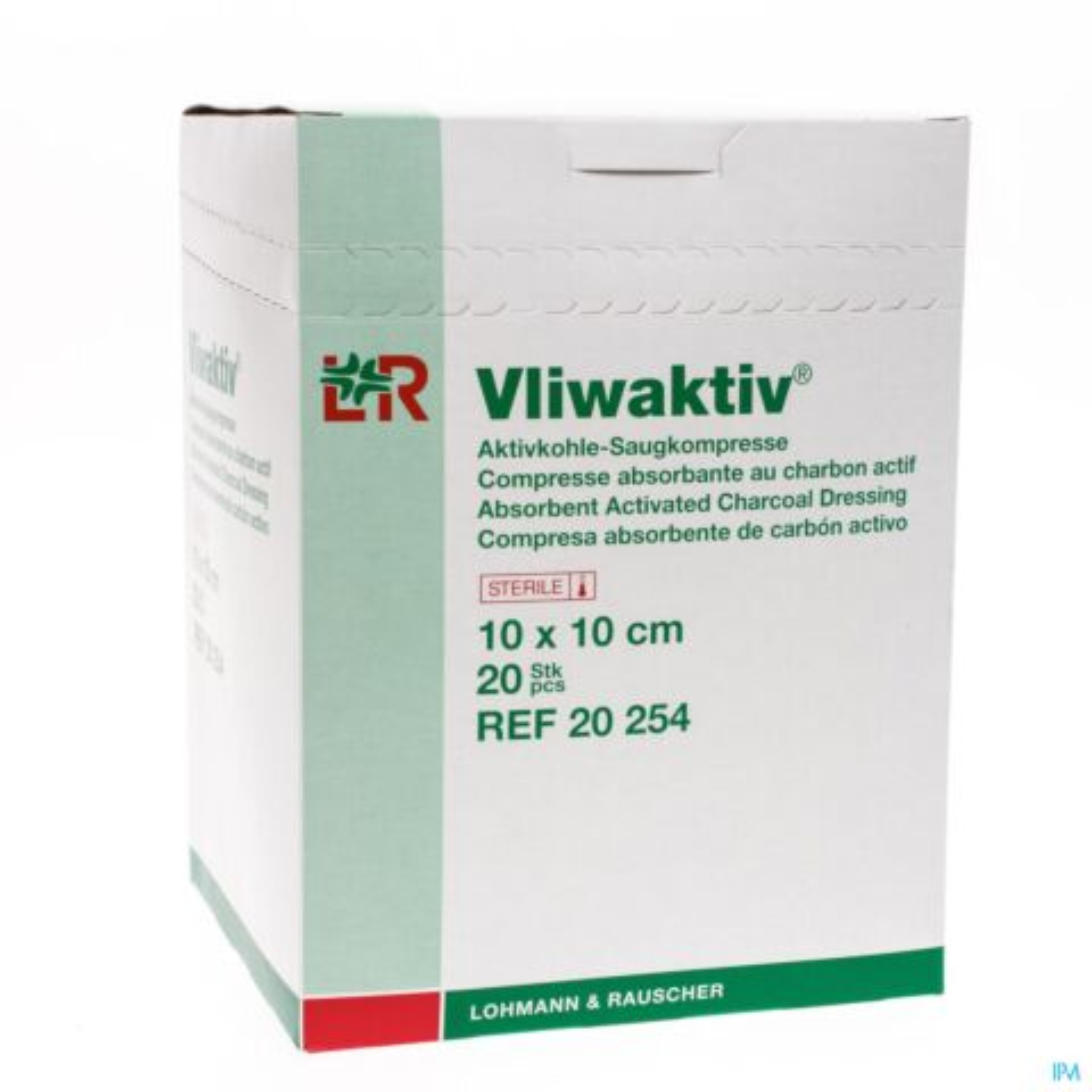 VLIWAKTIV CP CHARBON STERIL 10X10CM 20 20254
