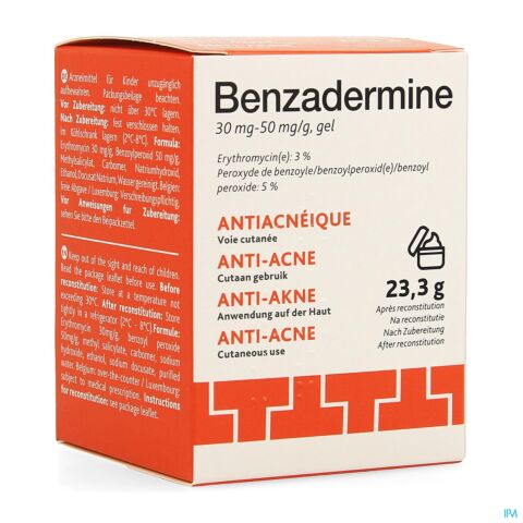 Benzadermine 30mg-50mg/g Gel Anti-Acnéique Pot 23,3g