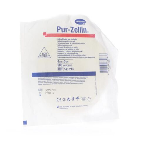 PUR ZELLIN TAMPON CELLULOSE 4X 5CM ROUL. 1 1432130